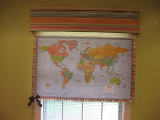 Window Shade World Map